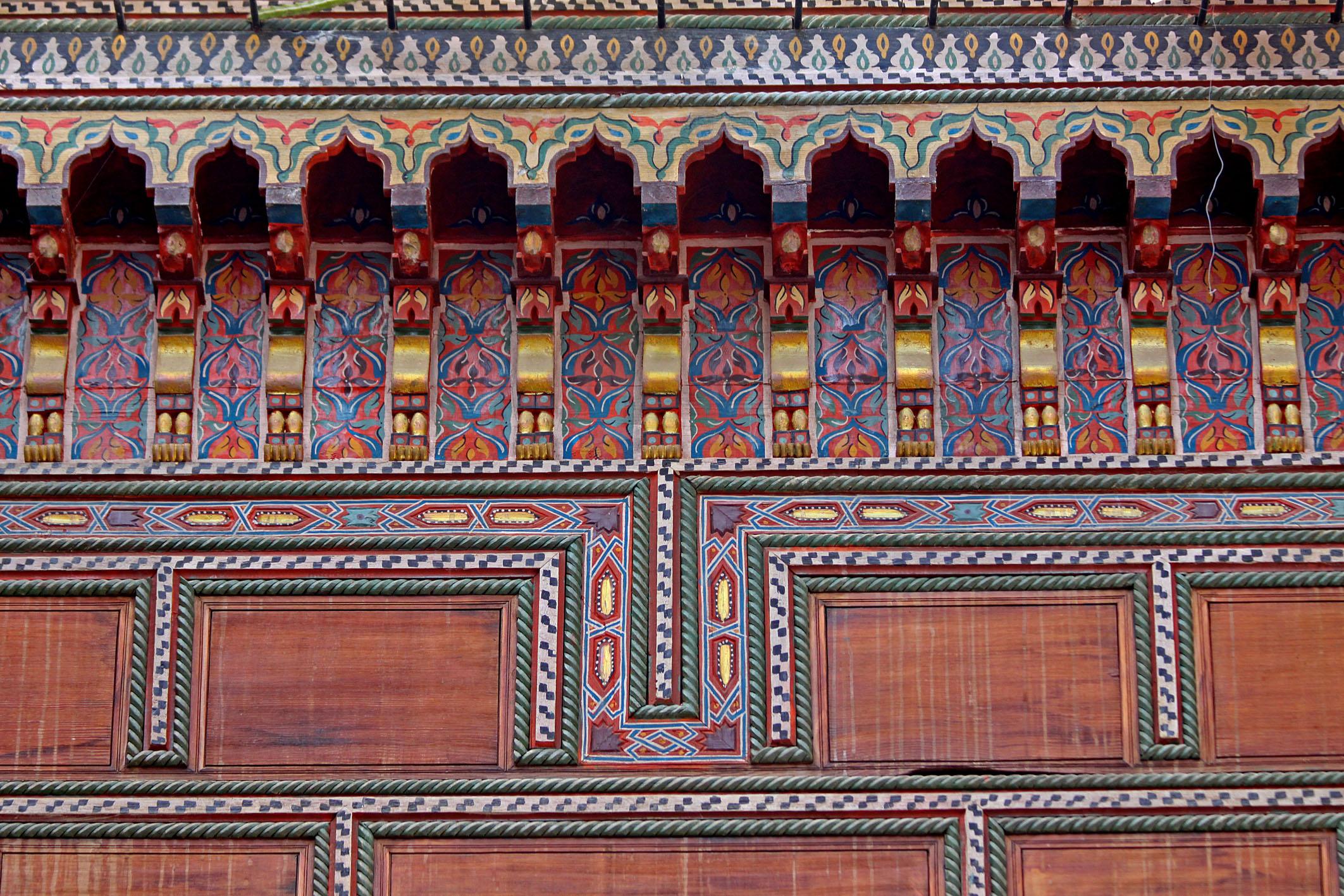 Pattern on Halka Roof Opening Above the Courtyard