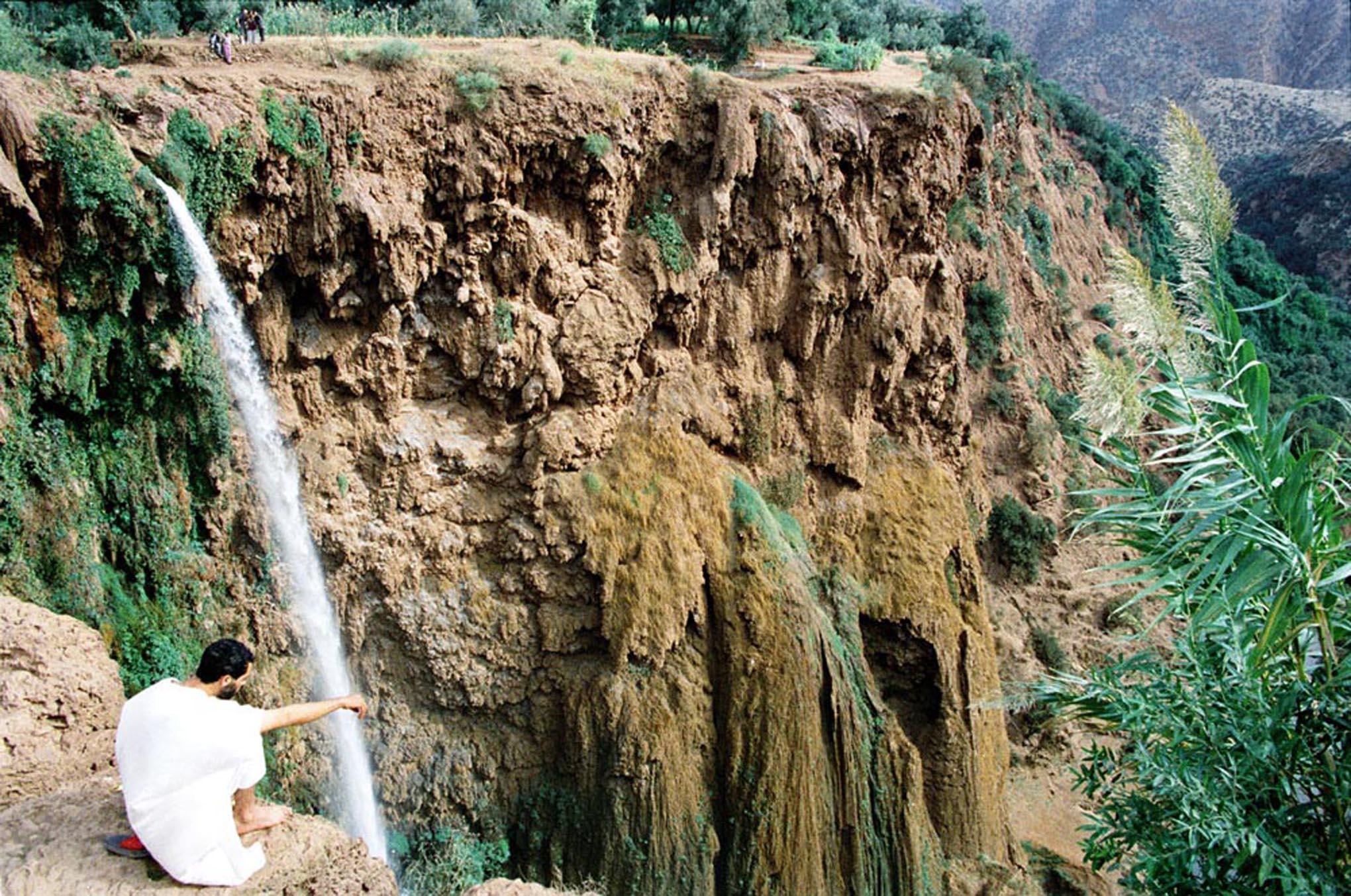 Man in Contemplation, Ozoud Cascades, 1997
